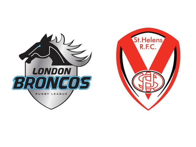 SAT 8th June London Broncos V St. Helens Overnight £79 PP